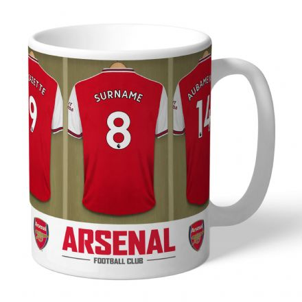 Personalised Arsenal FC Dressing Room Football  Mug